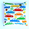 Car Cushion Cover in Red, Blue, Green, Yellow, Orange and White