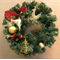 Christmas Wreath, Traditional Wall Hanging Decoration, Table Centre Piece