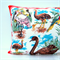 Australian Birds Vintage Linen Tea Towel Cushion Cover