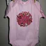 Big Flower Pale Pink Onesie Size 1