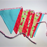 SALE Christmas bunting 9 flags red, green, aqua 