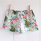 Mint Tropical mini Pom Pom Shorts