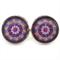 STUD EARRINGS- Purple mandala
