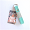 Reserved for Starry Raston - Carey Leather Two Tone Key Fob: Mint & Silver