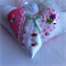 Decorated Crazy Patchwork Shabby Chic Fabric Hanging Heart with Appliques
