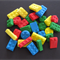 24 LEGO STYLE BUILDING BLOCK BRICK EDIBLE CUPCAKE CAKE PARTY DECORATIONS TOPPERS