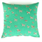 Little Tigers Cushion Cover in Minty Green, Black, Gold and Natural
