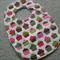 Baby Bib - Cupcakes - Pink and Green