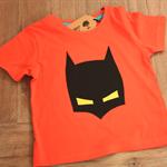Batman Mask T-Shirt Dark Orange Size 1