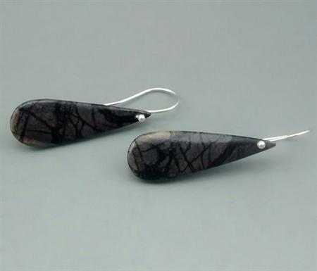 Jasper pear Earrings