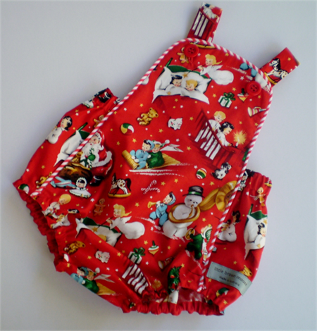 Vintage Style Baby Christmas Rompers