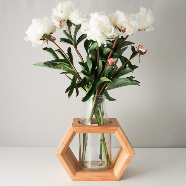 Timber-Wooden-Vase-Hexagon-and-Milk-Bottle-Design | Urban-Warehouse-Australia | madeit.com.au