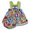 Clearance... SIZE 0 Baby Girls Cotton Boo Pinafore SET