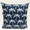 Navy Blue Palms Outdoor Cushion Cover