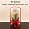 DIY Design Template & Instructions - Small Heart Folded Bookart Sculpture