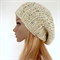 Hand Knitted Slouchy beanie / Hat beanie in cream