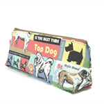 Make-up Zipper Pouch // Stationery Pencil Case in Vintage Dog Print