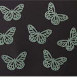 24 EDIBLE GREEN BUTTERFLY RICE / WAFER PAPER FLAVOURED CUPCAKE CAKE TOPPERS