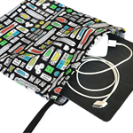 Medium Gadget Bag. Computer Cables, Chargers or Ipad. Ports, Plugs & Sockets