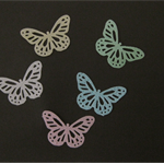 24 EDIBLE MIXED BUTTERFLY RICE / WAFER PAPER FLAVOURED CUPCAKE CAKE TOPPERS