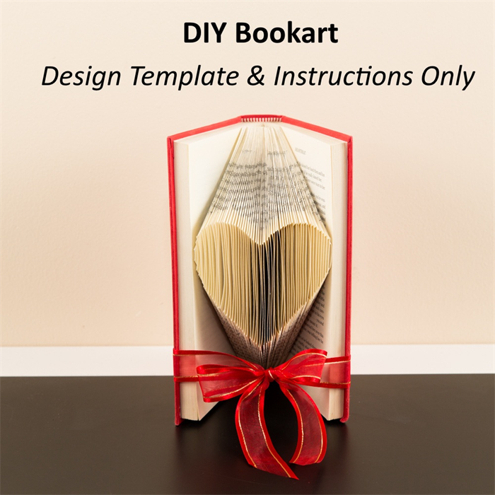 Diy design template instructions small heart folded bookart diy design template instructions small heart folded bookart sculpture pronofoot35fo Choice Image