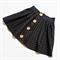 Black Polkadot Button Skirt - custom size 1-4