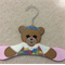 Baby Girl Painted Bear Coathanger