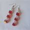 Swarovski earrings, colour padparadscha.