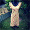Red/Gold Japanese Linen Dress