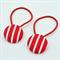 Button Hair Ties - red & white stripe