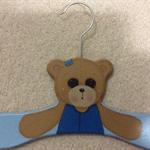 Baby Boy Painted Bear Coathanger