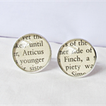 Atticus Finch Cuff Links Cufflinks Wedding Groom Father Silver Black White