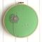 make a wish   hoop art   dandelion   embroidered   green   nursery   gift