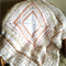 Shades of White, Cream and Apricot/Beige Textured Crochet Afghan (Lap rug/throw)