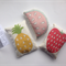 Set of three Mini Rice Bags with Fruit Illustration / Juggling Bags