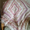 Shades of  Cream, Beige and Dusty Pink Textured Crochet Afghan (Lap rug/throw)