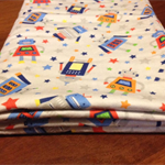 Cosy Flannelette Baby Blanket / Cot Cover / Pram Cover / Play Mat - Robots!