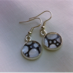 Black and White Doodle Earrings - FREE POSTAGE