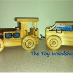 Wooden Toy Train - 2 piece - Loco & Coal Tender