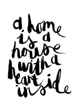 Fine A Home Is A House With A Heart Inside Hand Lettered Home Remodeling Inspirations Genioncuboardxyz