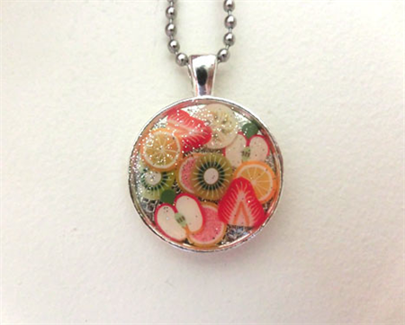 Resin fruit salad Necklace