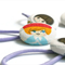 Pony Tail Holders - Set of 5 , Hair Button Elastic, Mixed Kawaii Dolls