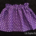 Purple Polkadot Skirt, 3-4years