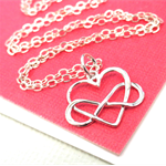 Infinity Heart Necklace Sterling Silver Infinity Necklace Best Friend Gift
