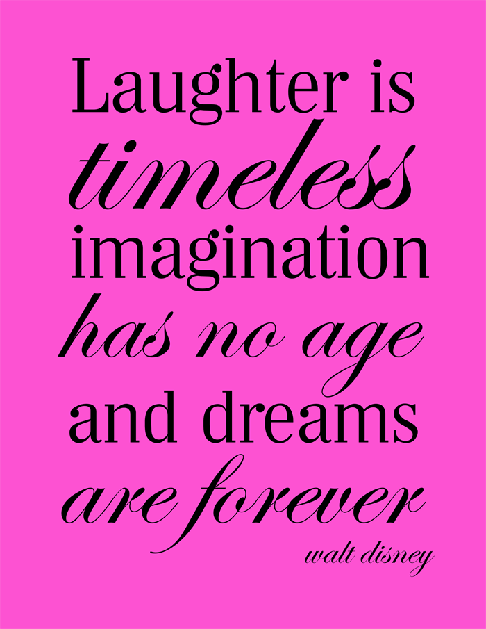 pink disney quote print poster girls room print art