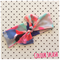 colour splash soft muslin headband bow wrap baby toddler kids adult