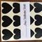 36  Black Die Cut Vinyl Love Heart  Stickers