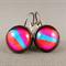 Cabochon Drop Earrings - Pink, Blue, Orange