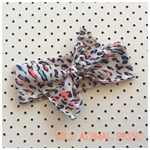 Neon Wild Animal print headband wrap bow Muslin soft baby toddler kids adult