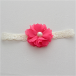 Newborn Headband - small flower, hot pink
